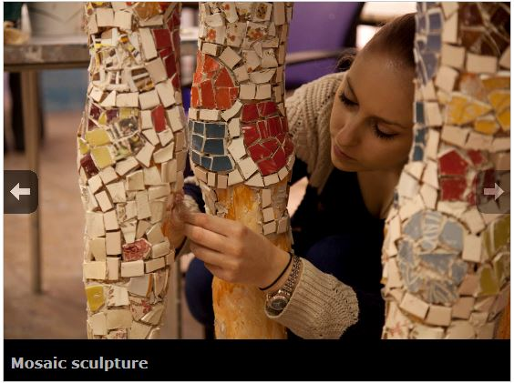 Headway East London - Mosaic Sculpture