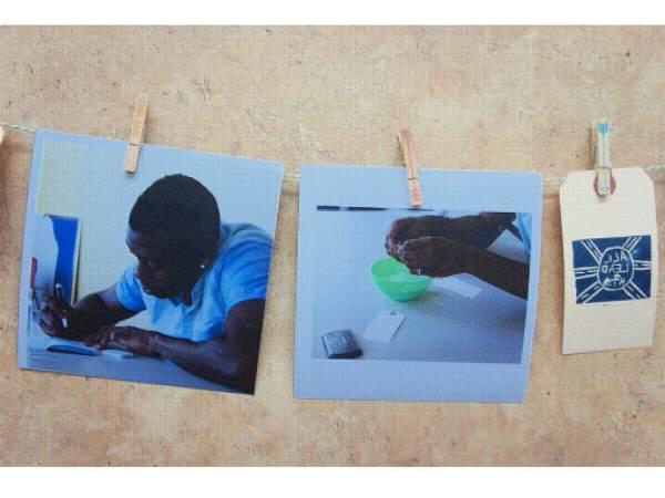 Tobi designing his print